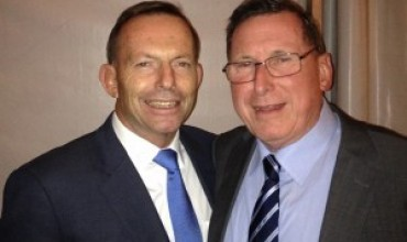 Prime Minister Tony Abbott and Tom Colman Project Officer Right to Life