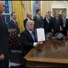 President Donald Trump Signs Executive Order to Defund International Planned Parenthood