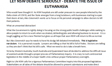 Right To Life NSW            PRESS RELEASE