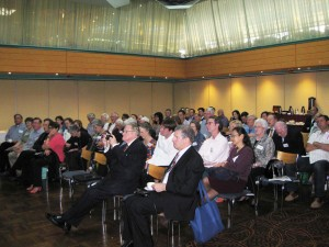 The Honourable Fred Nile is part of a large crowd attending the Conference